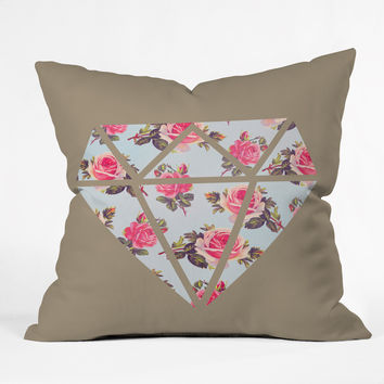 Allyson Johnson Floral Diamond Throw Pillow