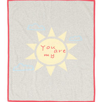 Cashmere-Blend You Are My Sunshine Blanket, Gray - Neiman Marcus Cashmere Collection
