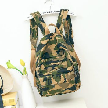 Women Camouflage Backpacks Girls Personality Nylon Travel Bag Bolsas Mujer 2017 New Large Capacity Female Army Green Back Bags
