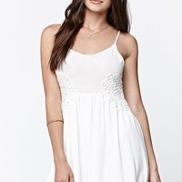 LA Hearts Embroidered Side Inset Dress - Womens Dress