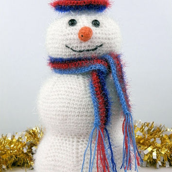 Crochet wine cozy Snow man