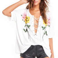 Long Stems Maxwell Tee - Wildfox