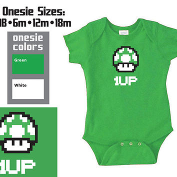 1 UP Geek Nerdy Baby Video Game Onesuit - Extra Person