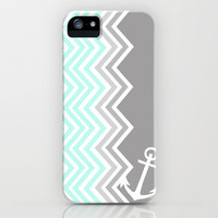 Nautical Chevron iPhone Case by Sunkissed Laughter | Society6