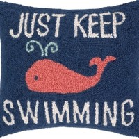 Just Keep Swimming Hook Pillow