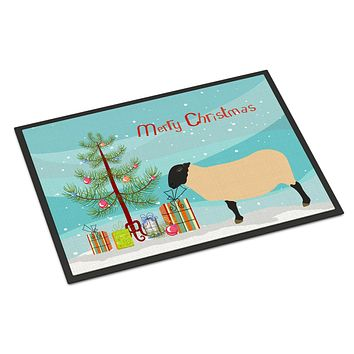 Suffolk Sheep Christmas Indoor or Outdoor Mat 24x36 BB9339JMAT