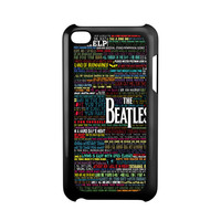 the beatles typography song lyric iPod Touch 4 Case