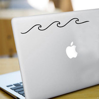 Wave Decal. Wave Sticker. Surf Decal. Laptop Sticker. Car Decal