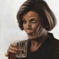 Arrested Development Lucille Bluth Art Print by FeatherStone