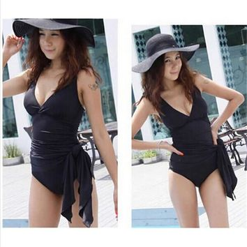 Swimwear y Plus Size One Piece Swimsuit Dress B