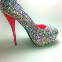 Custom Rhinestone Shoes