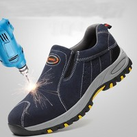 Steel Toe Safety Work Shoes Slip On Casual Mens Puncture Proof Boots