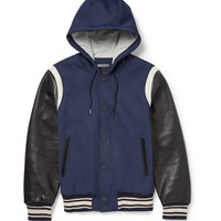 Marc by Marc Jacobs - Leather-Sleeved Twill Varsity Jacket | MR PORTER