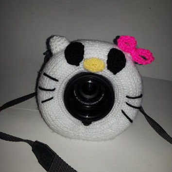 Camera Cover, Photographer Equipment, Photographer Accessory, Colorful Camera Cover, Hello Kitty Like Cover, Lens Buddy