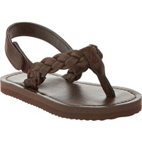 Old Navy Braided Faux Leather Sandals For Baby