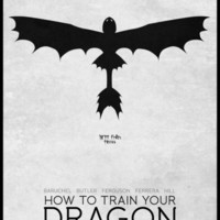 How To Train Your Dragon - minimal poster Art Print by Mads Hindhede Svanegaard | Society6