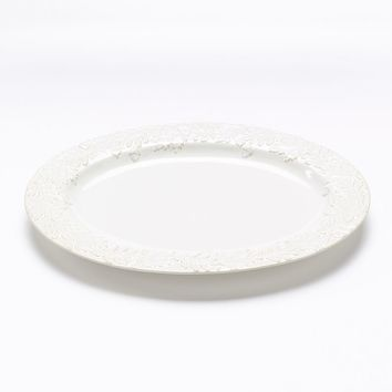 Food Network Harvest Leaf Turkey 20-in. Serving Platter (White)