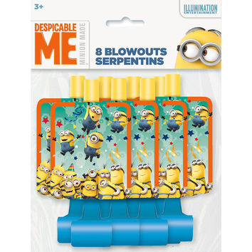 The Minions Party Blowouts [8 Per Package]