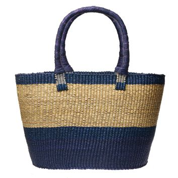 Navy Dipped Accra Basket