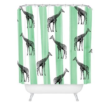 Natalie Baca Stripes And Spots Shower Curtain