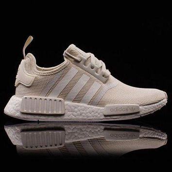 ADIDAS NMD Fashion Casual  Women Men Running Sport Casual Shoes Sneakers Beige G