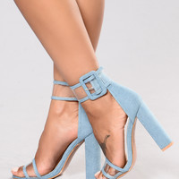 Cuff Me To It Heel - Denim