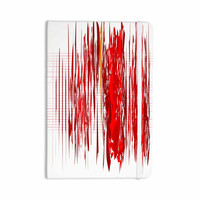 """Maria Bazarova """"Red Abstraction"""" Red White Everything Notebook"""