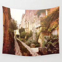 Landscape tapestry, orange decor, landscape decor, romantic tapestry, wall hanging, rustic decor, oversized art, outdoor tapestry, Italy