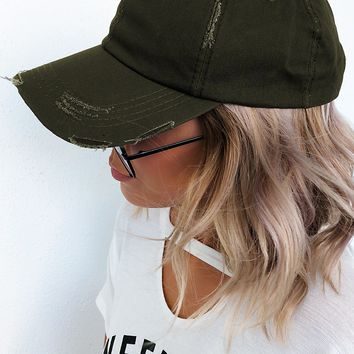Forever Young Hat: Olive