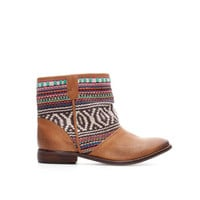 ETHNIC LEATHER ANKLE BOOT
