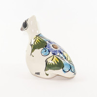 Sweet and Shy Mexican Pottery Bird Figurine