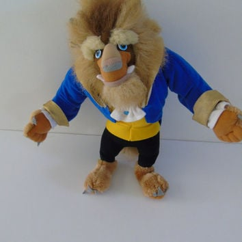 Disneys Classics Beast Prince from Beauty and the Beast 15 inch Toy Plush Figure  1992 Mattel Inc