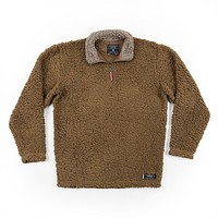 Appalachian Pile Pullover 1/4 Zip in Brown by Southern Marsh - FINAL SALE