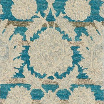 Nourison India House Ivory/Teal Area Rug