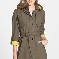 Women's Laundry by Shelli Segal 'Drip Drop' Hooded Trench Coat