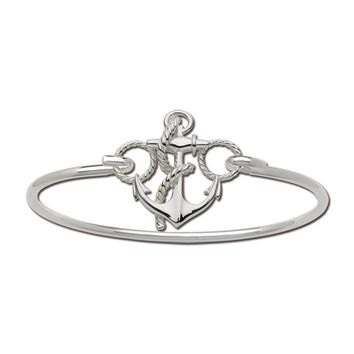 LeStage Anchor Bangle Bracelet