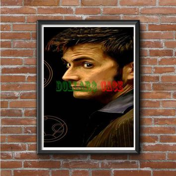 Tenth Doctor With Gallifreyan Photo Poster