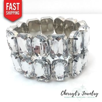Chunky Crystal Statement Bracelet