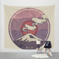 Fuji Wall Tapestry by Hector Mansilla