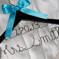 2 lines - Personalized wedding hanger / bridal hanger / Mother of the bride hanger / wedding favor /  bridesmaids gift