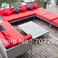 Outdoor Patio Wicker Furniture Modern Couch Set
