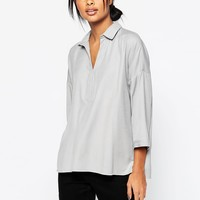 ASOS Casual Oversize Blouse at asos.com