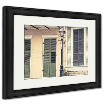 Framed Print, New Orleans Main Street Architecture Old Scene