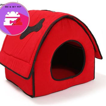 Comfortable  fashion bone style red dog house pet bed,Puppy Teddy Little Pet Cat Dog Sleeping Beds cat house sofa