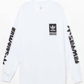 adidas 3 Block Long Sleeve T-Shirt at PacSun.com