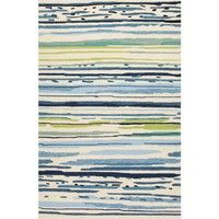 Silhouette Blue Indoor/Outdoor Rug - 2x3