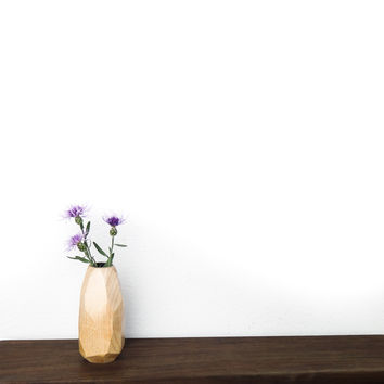 W/S Faceted Bud Vase - Maple