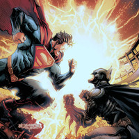 Injustice: Gods Among Us Batman vs. Superman video game poster