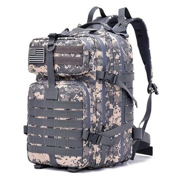 AikePet 42L Military Tactical Backpack Army 3D Camo Print Large Rucksack