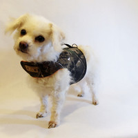 RockinDogs Mossy Oak/Real Tree Camouflage Twill and Blaze Orange Reversible Dog Harness